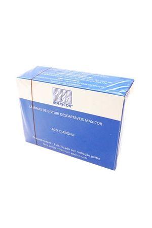 Lâminas de Bisturi Descartáveis n.15 Maxicor Caixa com 100 unidades