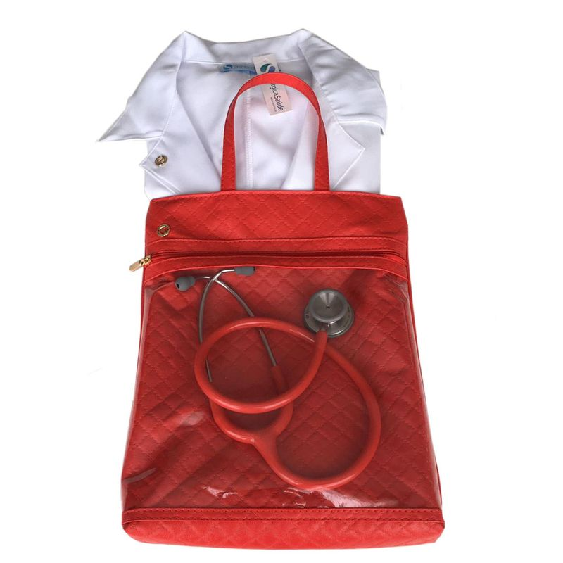 Porta-Jaleco-Esteto-Vermelho-Material-Sintetico