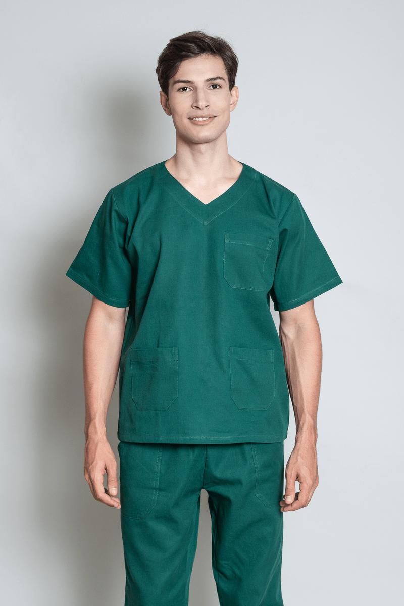 conjunto-pijama-cirurgico-masculino-brim-leve-verde-escuro-2