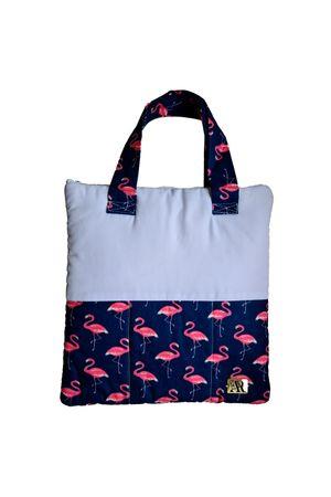Porta Jaleco Tricoline/Gabardine Flamingos 32cmX32cm