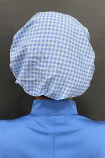 touca-cirurgica-feminina-tricoline-azul-xadrez-3