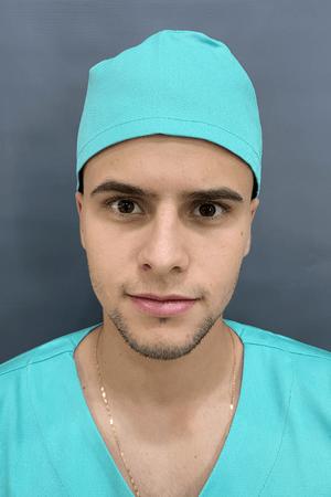 Gorro Cirúrgico Masculino Brim Leve Verde