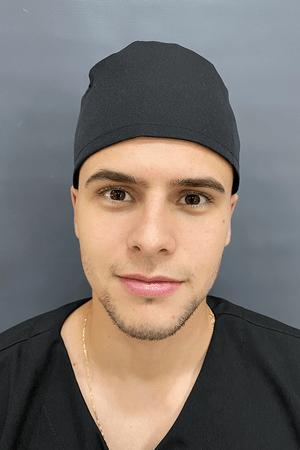 Gorro Cirúrgico Masculino Brim Leve Preto