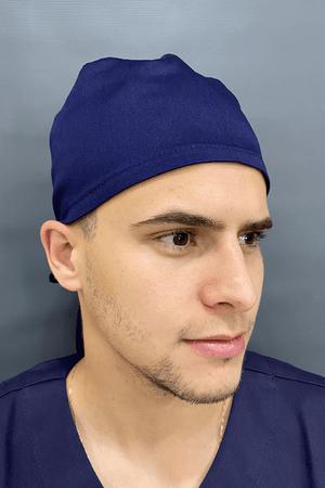 Gorro Cirúrgico Masculino Sarja Marinho
