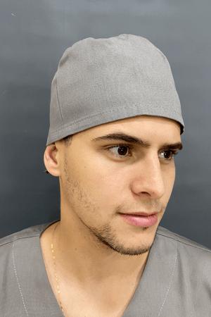 Gorro Cirúrgico Masculino Brim Leve Cinza